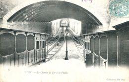 N°74177 -cpa Lyon -le Chemin De Fer à La Ficelle- - Ouvrages D'Art