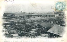 N°74187 -cpa Oulins -les Ateliers De La Compagnie Des Chemins De Fer- - Matériel