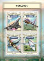 Sierra  Leone  2016  Concorde , Airplane - Sierra Leone (1961-...)