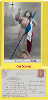 CPA MILITARIA   Patriotique ֎  Croix Femme Drapeau ֎ 1906 - Patriotiques