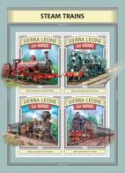 Sierra  Leone  2016 Steam Trains - Sierra Leone (1961-...)