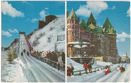 Quebec - Plaisirs D'hiver - à 45 Milles à L'heure - Sur La Terrasse Dufferin - - Québec - La Citadelle