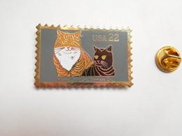 Beau Pin's Dentelé , Chat Maine Coon , Cat , Timbre USA - Animals