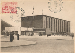 413/29 - TP 485 Sur Carte Maximum Exposition Internationale De L' Eau LIEGE 1939 - RARE Cachet Manuel - Maximum Cards