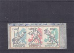 Europa 1966 - Belgique - Erreur De Date - 1666 Au Lieu De 1966 - Sprint - Javelot - Saut à La Perche - Europa-CEPT