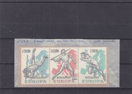 Europa 1966 - Belgique - Erreur De Date - 1696 Au Lieu De 1966 - Sprint - Javelot - Saut à La Perche - Europa-CEPT
