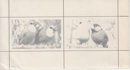 Staffa Scotland  Parrots  2v  Black Print Imperf  MNH  SS  #  18639 D Inde Indien - Perroquets & Tropicaux