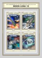 Sierra  Leone  2016  First Artificial Satellite Of The Moon Luna10,  Space - Sierra Leone (1961-...)