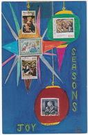 'Seasons Joy' - Philatelic Christmas Card - USA - (Stamps: Portugal, New-Zealand, Belgique, U.K. & Austria) - Postzegels (afbeeldingen)