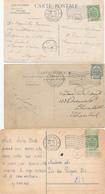 415/29 - Belgique Exposition Universelle BRUXELLES 1910 - Cachets Mécaniques Sur 9 Cartes-Vues - Expositions Universelles