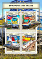 Sierra  Leone  2016  European Fast Trains - Sierra Leone (1961-...)