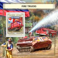 Sierra  Leone  2016 Fire Trucks - Sierra Leone (1961-...)