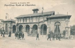 416/29 - Belgique Exposition Universelle BRUXELLES 1910 - Carte Pavillon CHAMPAGNE Moet Et Chandon - Vins & Alcools