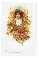 CPA - Carte Postale-Belgique -Jeune Fille Surgissant D'un Champ De Blé 1904 VM4636 - Femmes