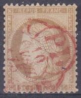 France - Yvert N° 55 Oblitéré Càd Rouge Des Imprimés - Marcophilie (Timbres Détachés)