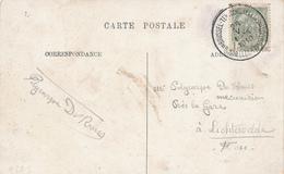 419/29 - Belgique Exposition Universelle BRUXELLES 1910 - Cachet Manuel Sur TP Armoiries Sur Carte-Vue - Universal Expositions