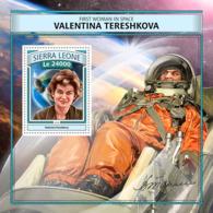 Sierra  Leone  2016   First Woman In Space, Valentina Tereshkova - Sierra Leone (1961-...)