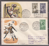 Guinea Sobres 1� D�a 1955 Edifil 350/1+354 Serie Corta - Guinée Espagnole