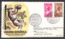 Guinea Sobres 1� D�a 1955 Edifil 350/4 N� 352/3 En Frontal - Guinée Espagnole