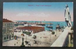 Cartolina Trieste Piazza E Molo Giseppino - Viaggiata 1918 - - Trieste
