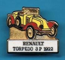 1 PIN'S //  ** RENAULT / TORPEDO / 3P / 1922 ** . (CEF) - Renault