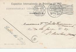422/29 - Belgique Exposition Universelle BRUXELLES 1910 - Carte En Franchise Du Commissaire Général - Service Des Postes - Expositions Universelles