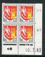 FRANCE ( COINS DATES ) : Y&T N° 1353A  COIN  DATE  DU  10/07/63  TIMBRES  NEUFS  SANS  TRACE  DE  CHARNIERE . - 1960-1969