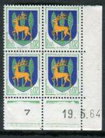 FRANCE ( COINS DATES ) : Y&T N° 1351B  COIN  DATE  DU  19/05/64  TIMBRES  NEUFS  SANS  TRACE  DE  CHARNIERE . - Coins Datés