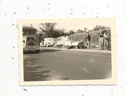 Photographie ,automobile,90 X 60 , CITROEN 2 CV ,  Tube, Assistance R. VARNAJO , Course Bordeaux Paris,cyclisme - Automobile