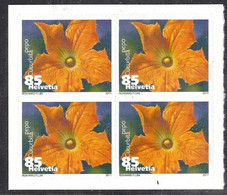 Svizzera 2011 Fiore Di Zucchina / Schweiz Zucchini-Blume 2011 Mi-Nr. 4x2193 - Suisse