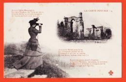 FRI000 Promotion Pour L'utilisation De LA CARTE POSTALE Fidèle Messagère FEMME à JUMELLES 1900s TREFLE CCCC 1 Frau Lady - Postal Services