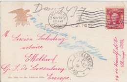 Etats-Unis, CP Post Card Avec Aigle De Chicago Obl. Flamme Chicago Ill Le 22Nov06 Pour Ettelbruck Luxembourg - United States