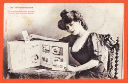 FRI012 Peu Commun BERGERET - La COLLECTIONNEUSE De CARTES POSTALES Album 1906 à Madeleine MAYZOUS La Fonvialane Albi - Bergeret