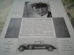 ANCIENNE PUBLICITE VOITURE  CADILLAC PRODUCTION GENERAL MOTORS 1930 COMTE DE SESSEVALLE - Posters