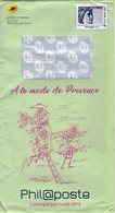 """Entier Postal Spécial Pour Catalogue PHIL@POSTE - Repiquage Par Philaposte Timbre """" Timbres De France """" 226114 - Prêts-à-poster: TSC Et Repiquages Semi-officiels"""