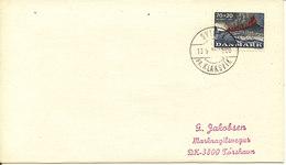 Faroe Islands Cover With Danish Stamp Svinoy Pr. Klaksvik 13-9-1974 Sent To Torshavn - Faroe Islands