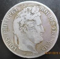 Louis-Philippe, 5 Francs IIe Type Domard, 1838 BB, TB - J. 5 Francs