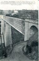 N°74200 -cpa Viaduc De Fades -avec Train- - Ouvrages D'Art