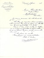 Facture Eugène Soulier à Chauny - Peaux Chiffons Corne Os Métaux... - 1913 - 1900 – 1949