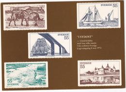 Frimärkshäfte 'I Sydost' - 08-05-1972 - Sverige / Sweden - The Booklet 'In The South-East - Postzegels (afbeeldingen)