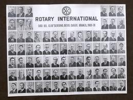 Rotary International - Soci Del Club Seregno, Desio, Carate Brianza - 1969-70 - Vecchi Documenti