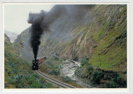 ECUADOR           TREIN-TRAIN-TRENI-ZUG- STATION-BAHNHOF-GARE-STAZIONE   2  SCAN   (VIAGGIATA) - Trenes