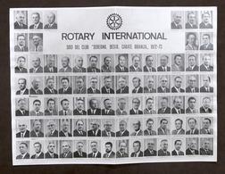 Rotary International - Soci Del Club Seregno, Desio, Carate Brianza - 1972-73 - Vecchi Documenti