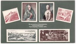 Frimärkshäftet 'Gustaviansk Konstt' 07-10-1972 Sverige/Sweden - Le Six Motifs Du Carnet 'L'art Suédois Du XVIIIe Siècle - Postzegels (afbeeldingen)