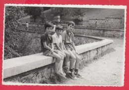 245165 / LITTLE THREE BOY , Vintage Original Photo , Bulgaria Bulgarie - Anonymous Persons