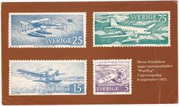 Frimärken Automathäftet 'Postflyg' - 1972 -  Sverige/Sweden - Airplanes - Postzegels (afbeeldingen)