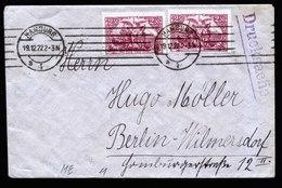 A6266) DR Infla Drucksache Brief Hamburg 19.12.22 MeF Mi.115e (2) Gepr. Infla - Briefe U. Dokumente