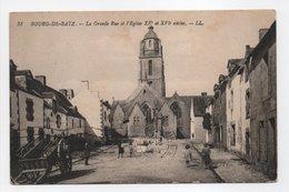 - CPA BOURG-DE-BATZ (44) - La Grande Rue Et L'Eglise 1922 (avec Personnages) - Editions Lévy N° 31 - - Batz-sur-Mer (Bourg De B.)