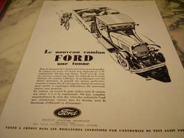 ANCIENNE PUBLICITE NOUVEAU CAMION FORD  1930 - Trucks