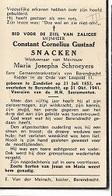 ZA 13/    °ZANDVLIET 1852 + BERENDRECHT 1941  CONSTANT SNACKEN  ERE SECRETARIS V.BERENDRECHT - Religion & Esotérisme